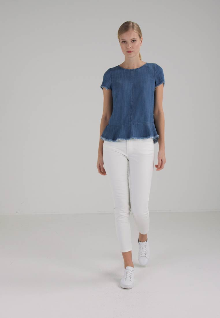 Marc OPolo DENIM SHIRT SHORT SLEEVES - Blouse - blue denim