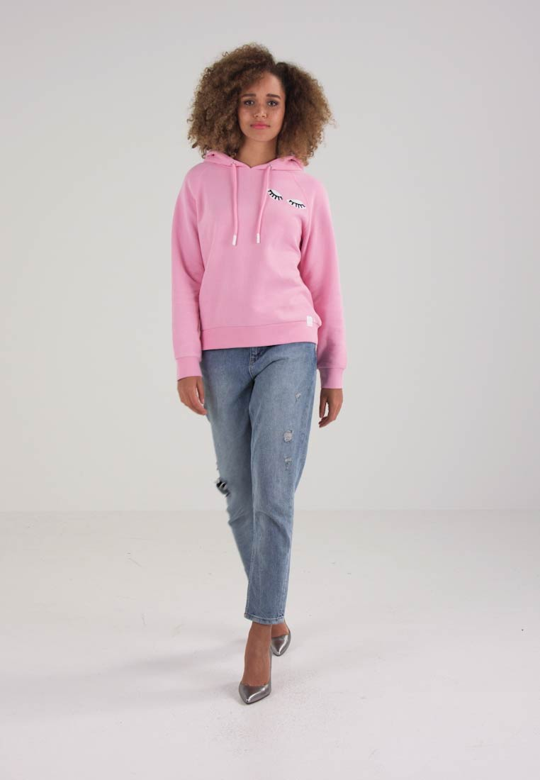 Marc O'Polo DENIM - HOODY PLACED ARTWORKS - Kapuzenpullover - prism pink