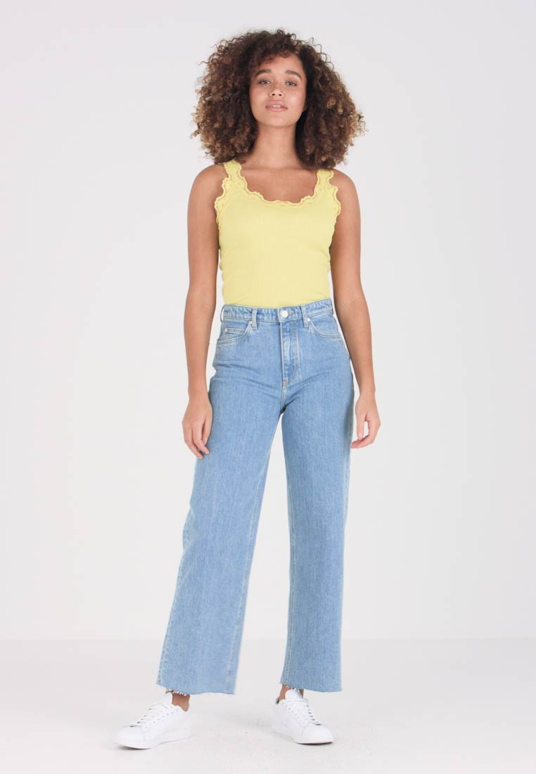 Marc O'Polo DENIM - TOMMA HIGH STRAIGHT CROPPED - Jeans straight leg - better be blue wash