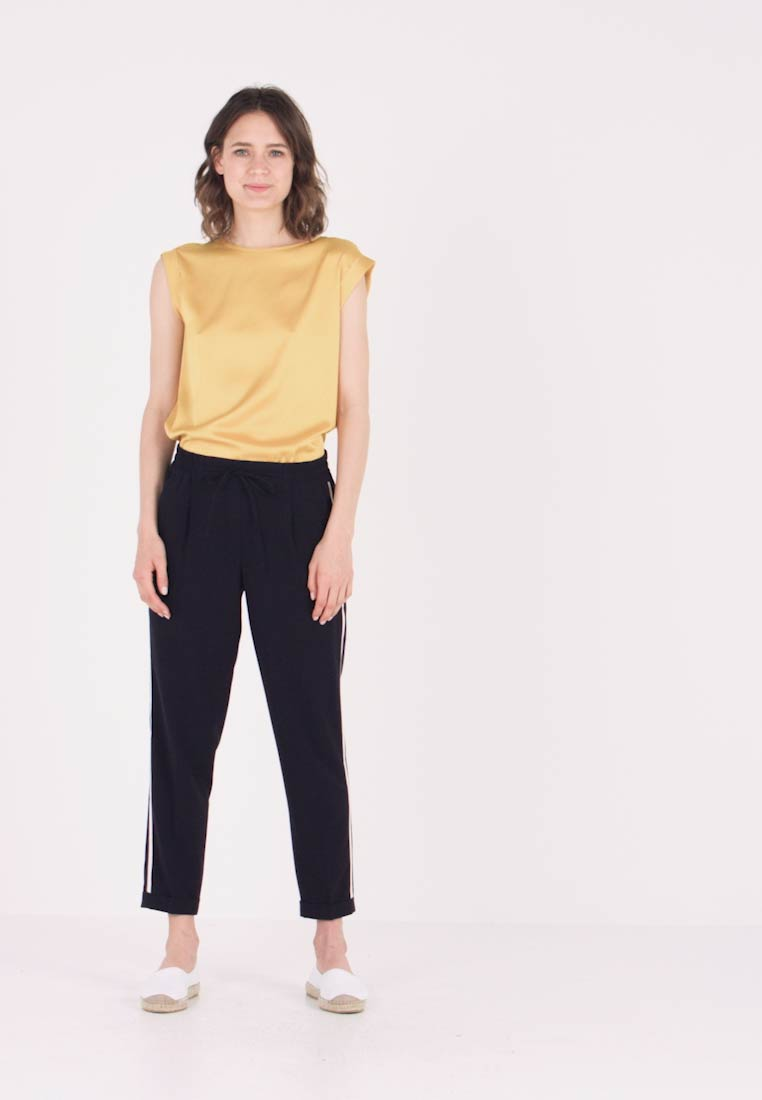 Opus - MELOSA PIN - Trousers - simply blue