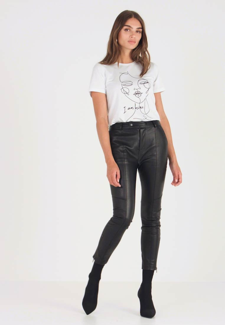 Pepe Jeans - SELMA - Trousers - black