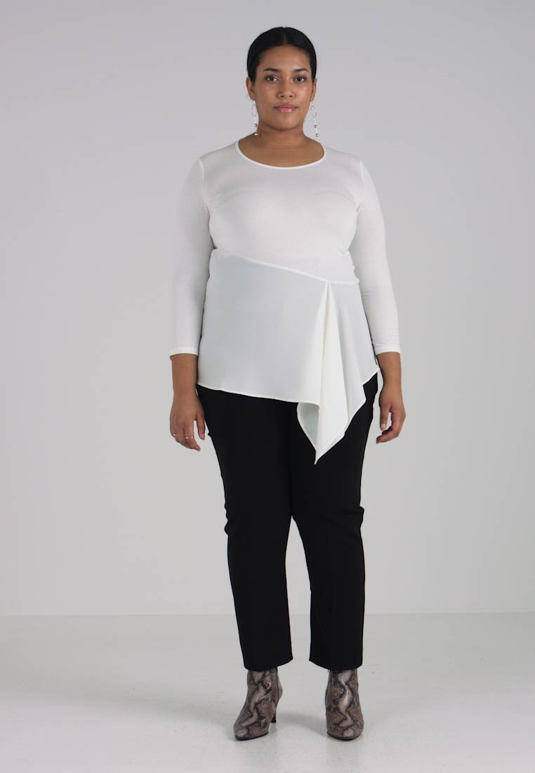 Long Marina Rinaldi By Persona Ivory Top Sleeved Asymmetric Vela pXzATcTWFZ