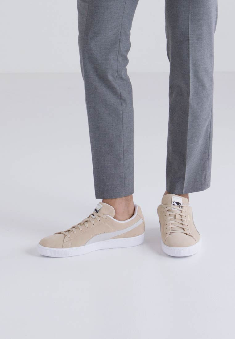 Puma SUEDE CLASSIC - Baskets basses - pebble/white