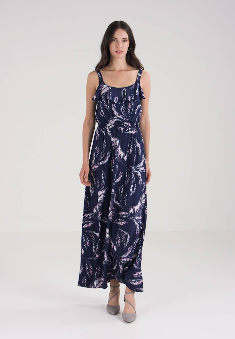 Maxi Navy Q Designed Dress By Lang s a171IP