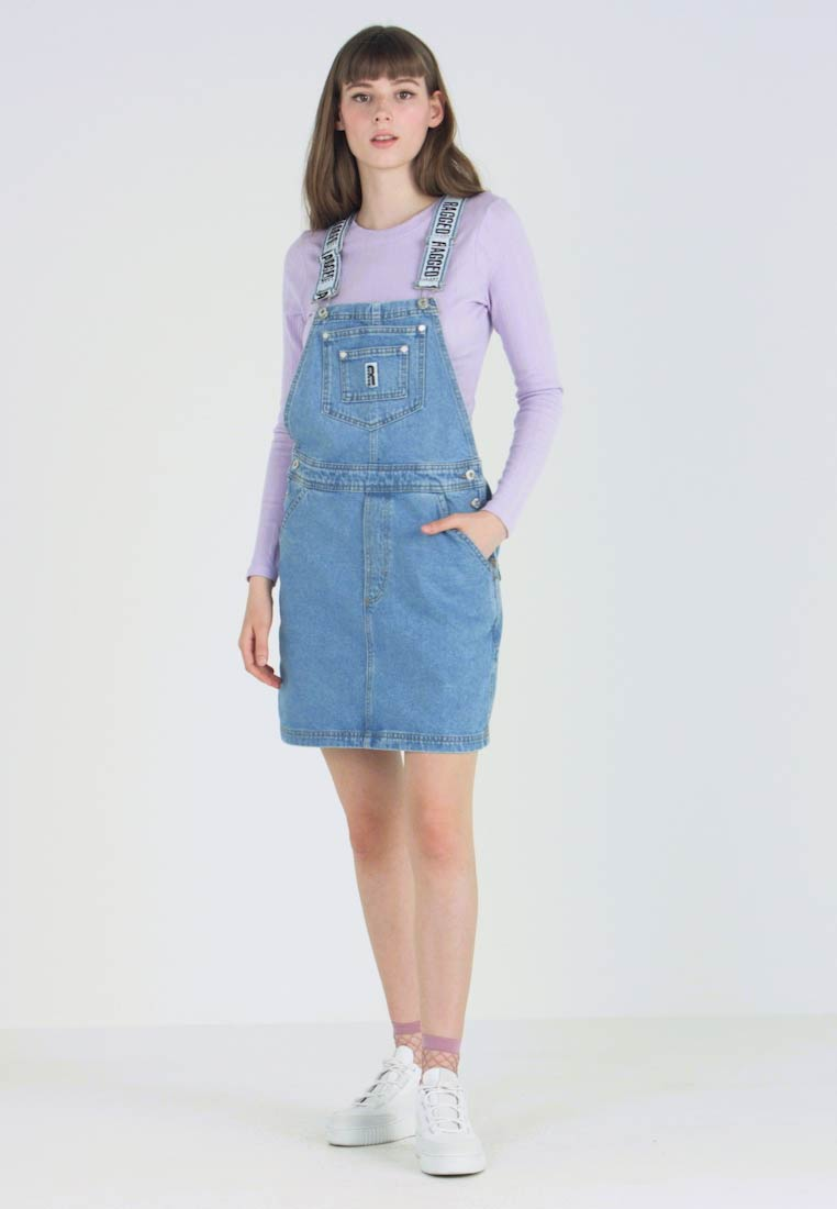 Ragged Jeans - DUNGAREE DRESS - Sukienka jeansowa - light blue