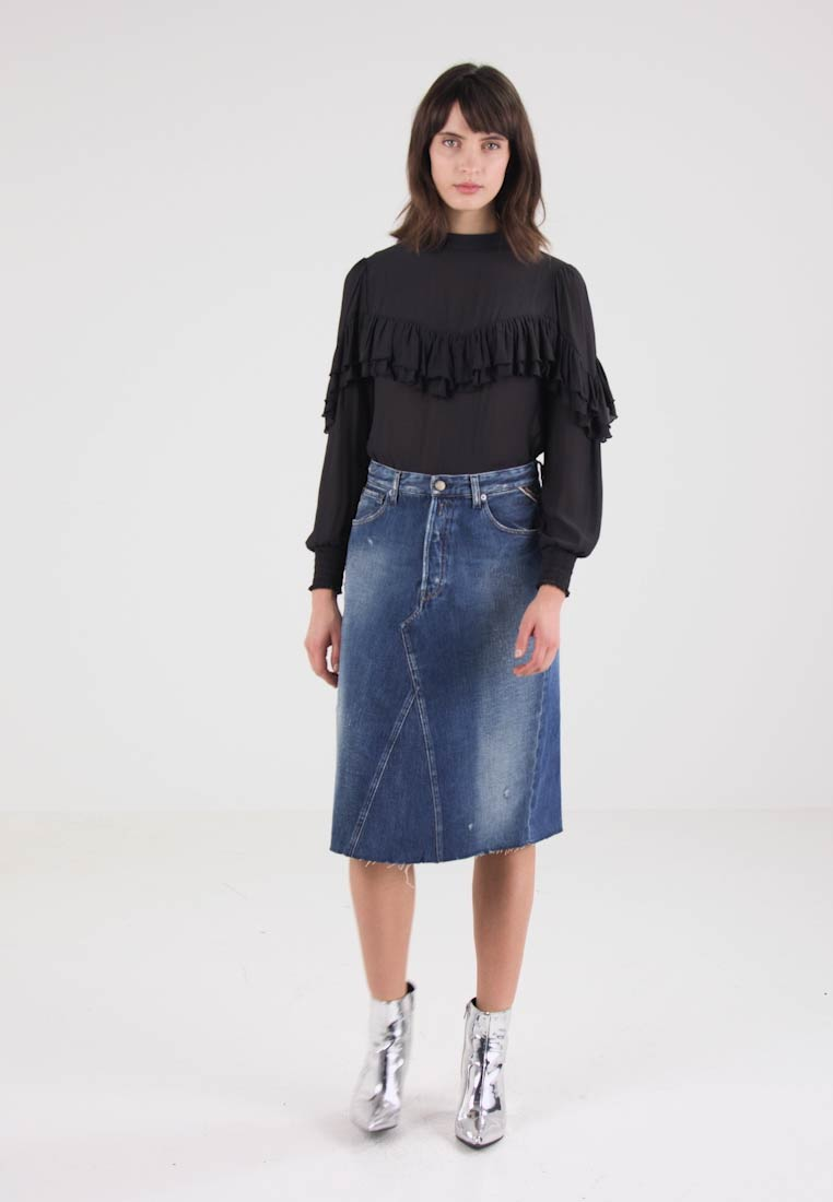 Replay SKIRT - Dongeriskjørt - blue denim