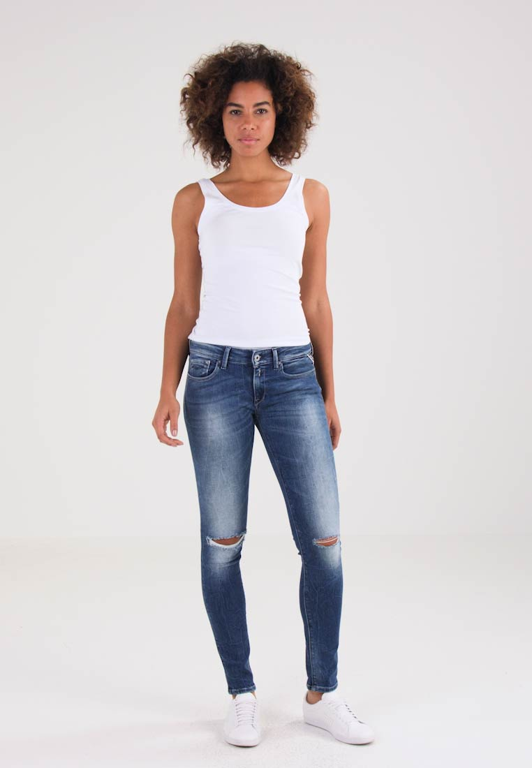 Replay LUZ - Jeans Skinny Fit - destroyed denim