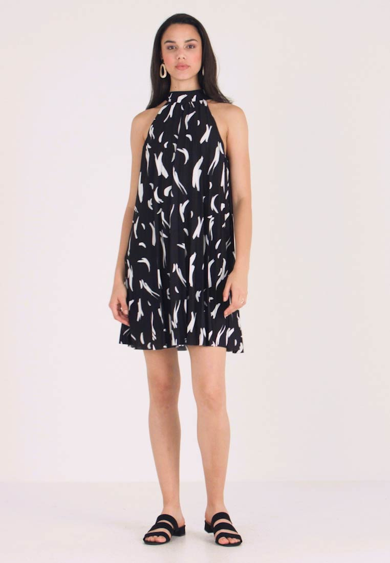 River Island - Jersey dress - black splat