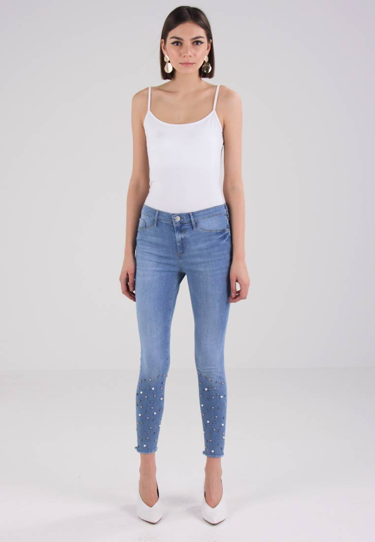 River Island Jeans Skinny Fit - blue denim