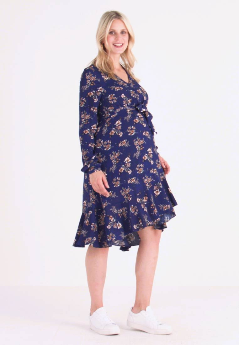 Ripe - JULIETTE TIE FRONT DRESS - Shirt dress - navy