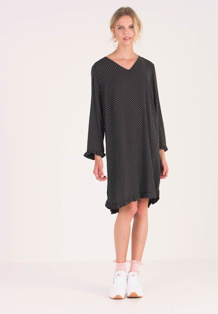 Saint Tropez - WOVEN DRESS ON KNEE - Kjole - black