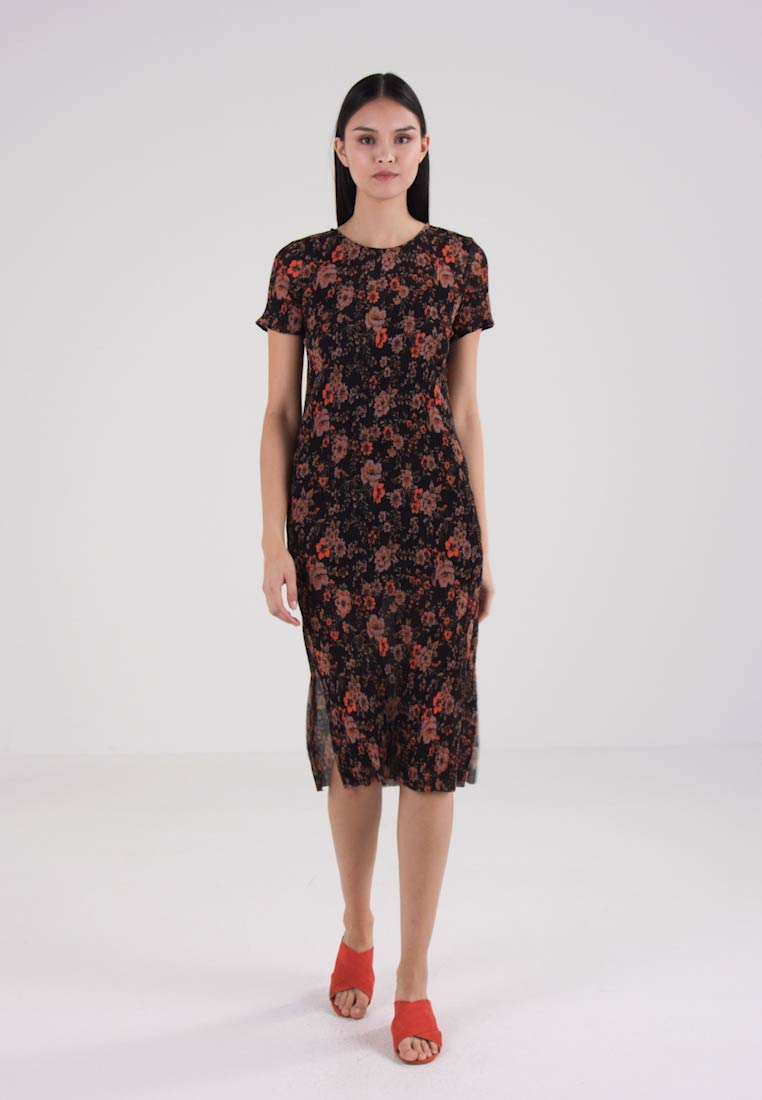 e19bbe23 Samsøe & Samsøe BURMIS DRESS - Kjole - black bloom - Zalando.no