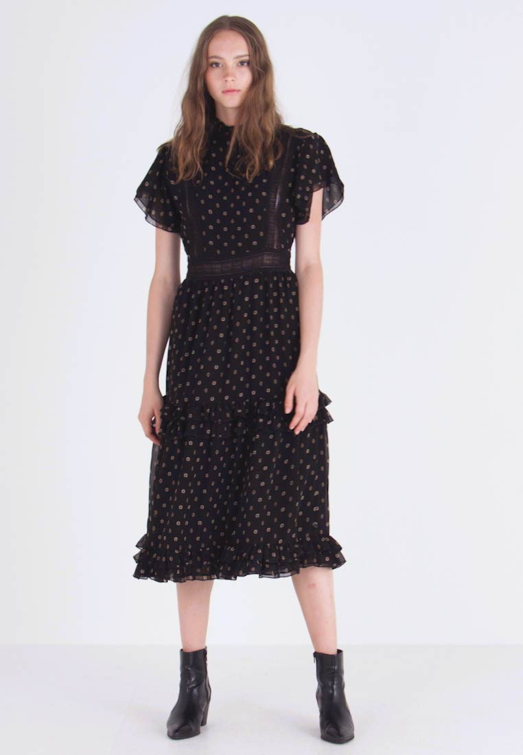 Scotch & Soda - PARTY DRESS WITH RUFFLES AND PANELS - Day dress - combo