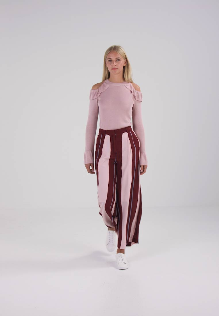 Sepia Selected syrah Femme Rose Trousers faded Pants Ankel Denim Sfmika OqwTXF