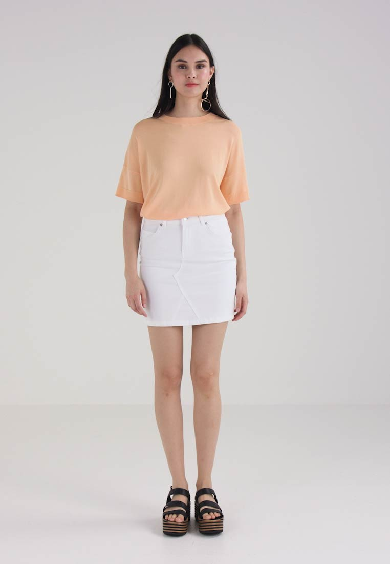 Selected Femme SFMAYA SKIRT  - Dongeriskjørt - white denim
