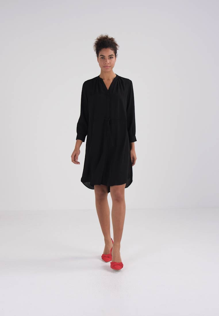 Selected Femme - SFDAMINA 7/8 DRESS - Skjortekjole - black