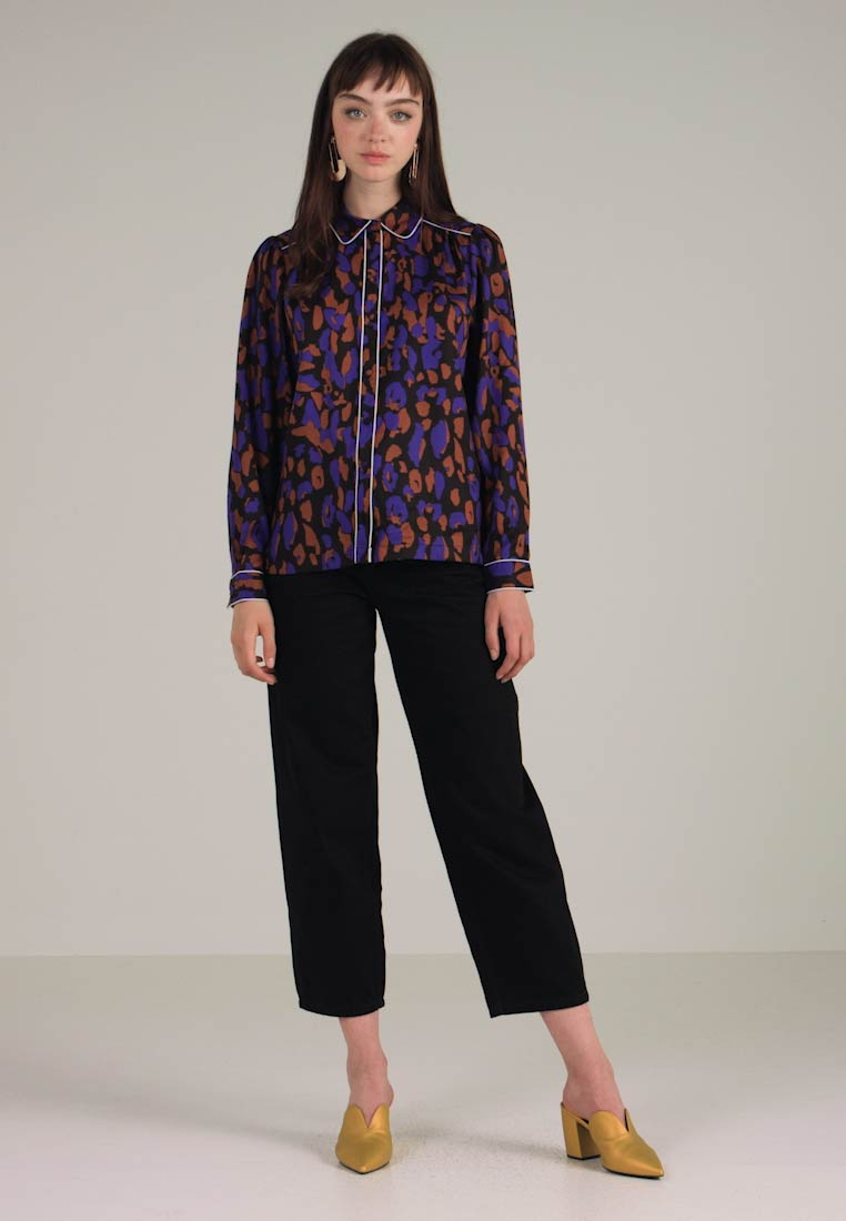 Women's tortoise Black Slftessa Shell Shirt Femme Selected liberty SYwfZESq
