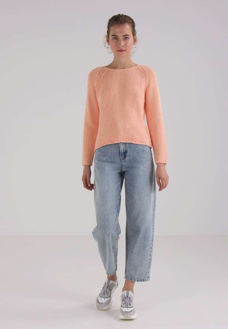 Selected Femme SFOLGA WIDE O NECK - Jumper - apricot ice