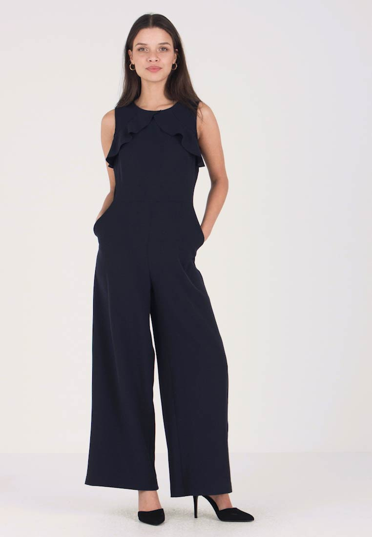 Second Script Petite - COCO FRILL  - Overall / Jumpsuit /Buksedragter - navy