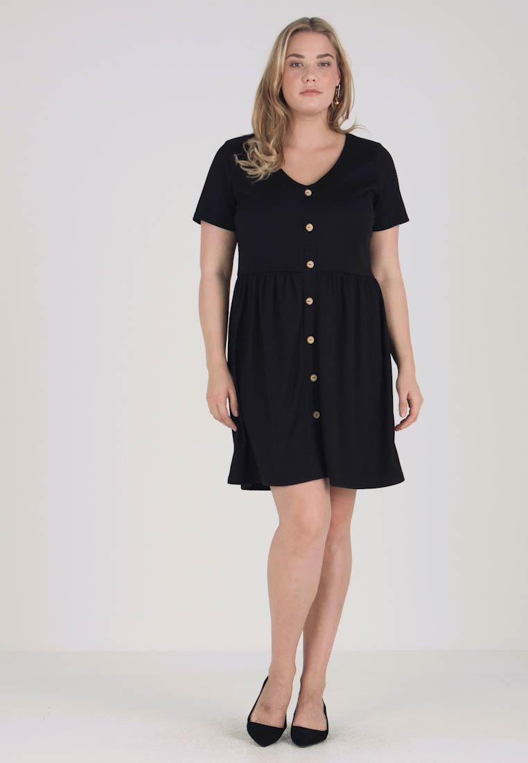 Jerseykleid Black Button Simply Through Dress Be 0w474TqF