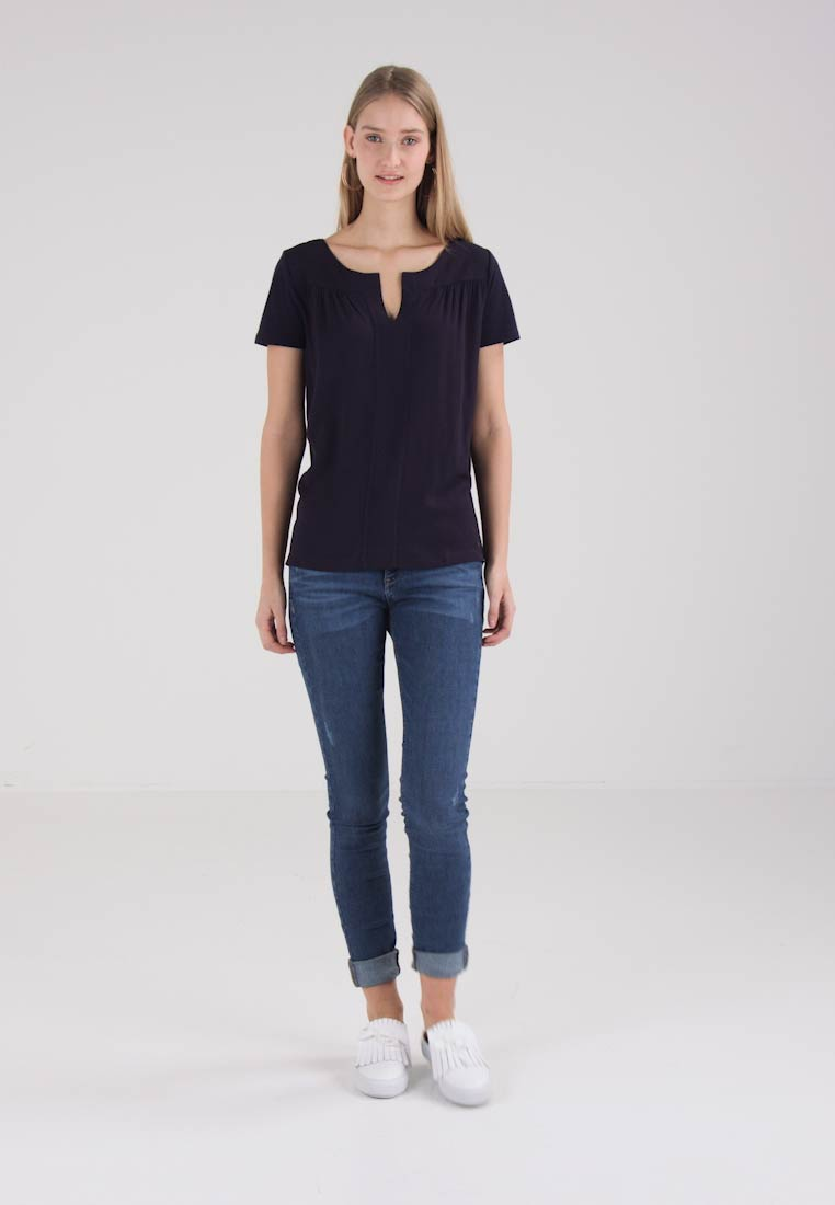 Factory S Navy oliver Kurzarm Outlet Blouse rnFwq4Xr51