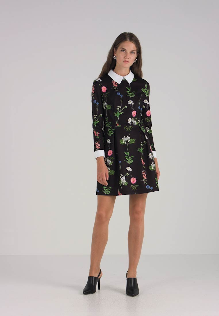 Baker Dress Cocktail Matredi Party Black Print Ted Florence pdqSn8Sw