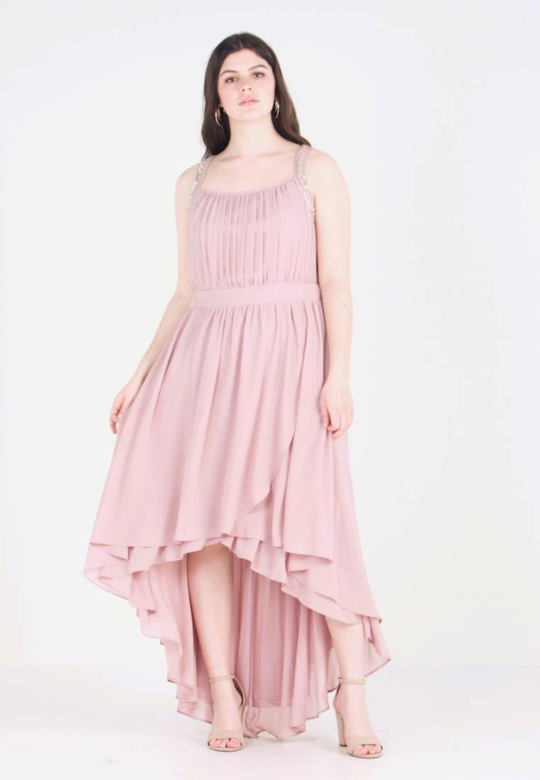 Tfnc Curve Dress Sera Exclusive Abito Pale Jora Maxi Da Mauve Y7gbf6y