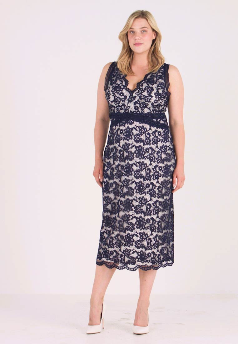 TFNC Curve - ARUSHI MIDI DRESS - Occasion wear - navy/nude