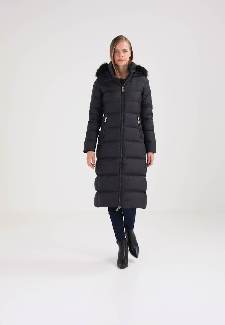 tommy hilfiger courtney fitted maxi puffer down coat black beauty. Black Bedroom Furniture Sets. Home Design Ideas