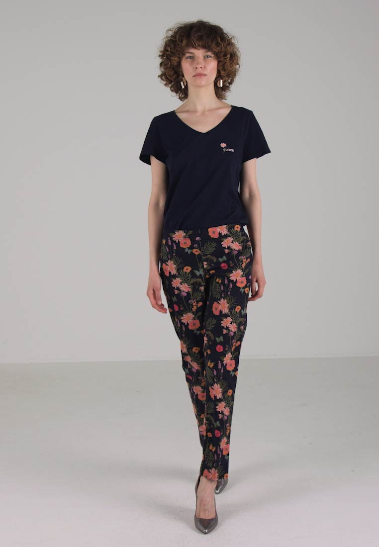 TOM TAILOR MIA ANKLE LENGTH PANTS  - Bukser - real navy blue