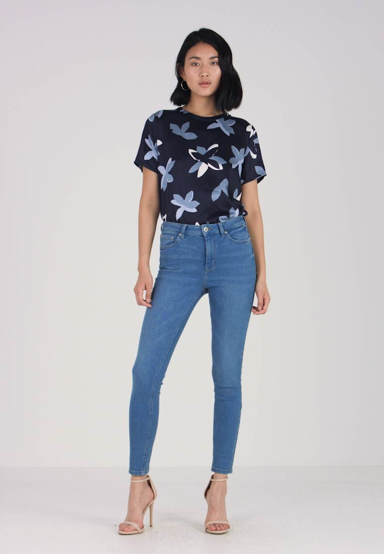 Sky Structured Loose Blue Fit Tailor Captain Broek Tom Pants fRnpYqH