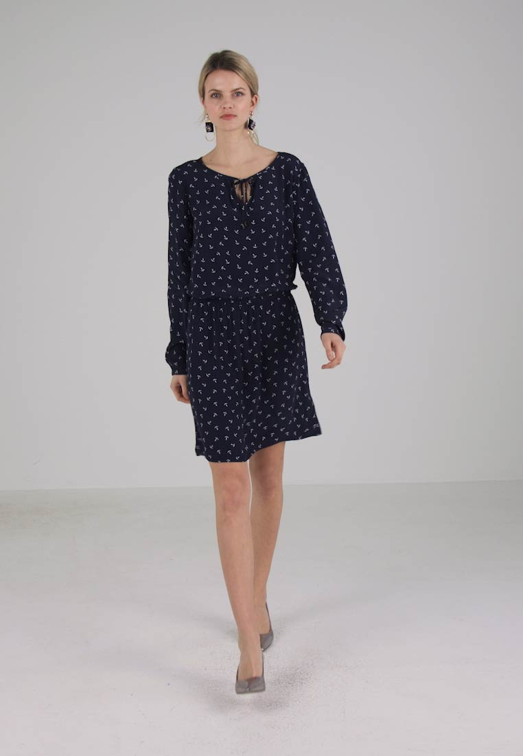 TOM TAILOR LOVELY BASIC DRESS ONE - Robe dété - real navy blue