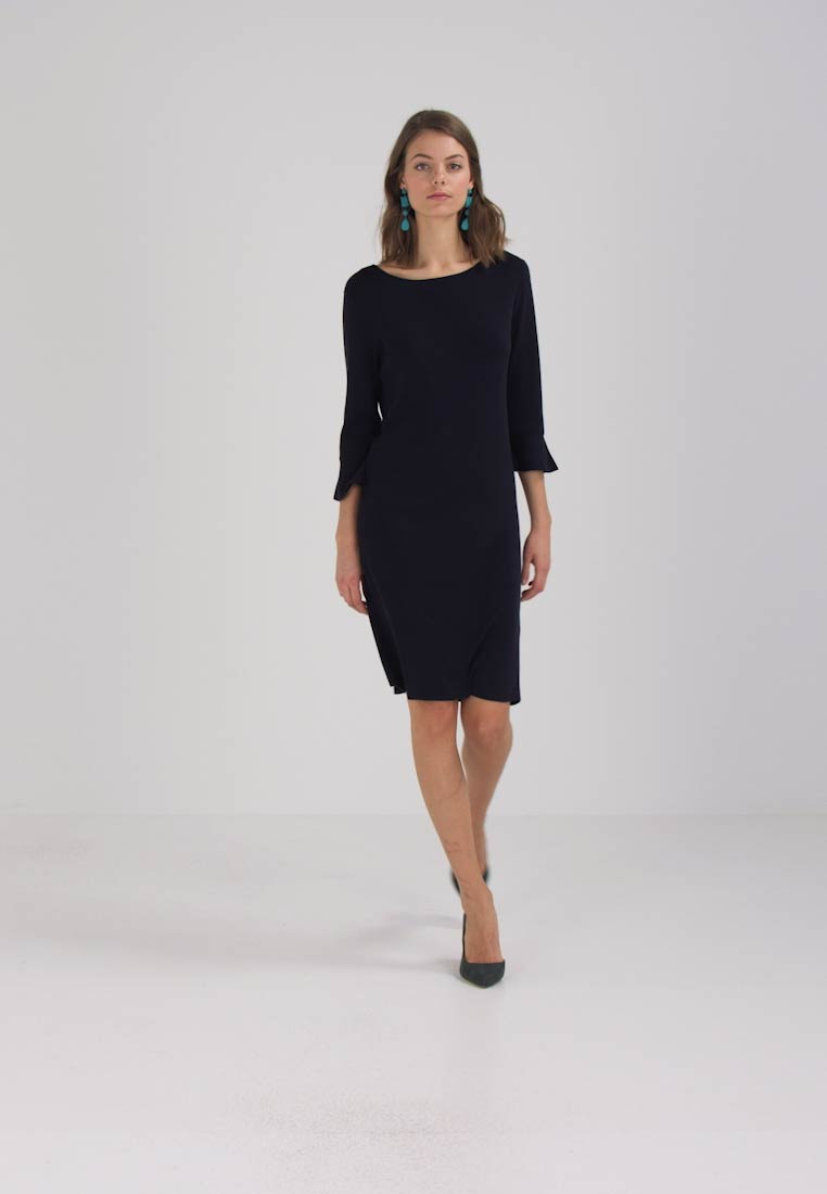 TOM TAILOR TRENDY RUFFLE DRESS - Robe pull - navy blue