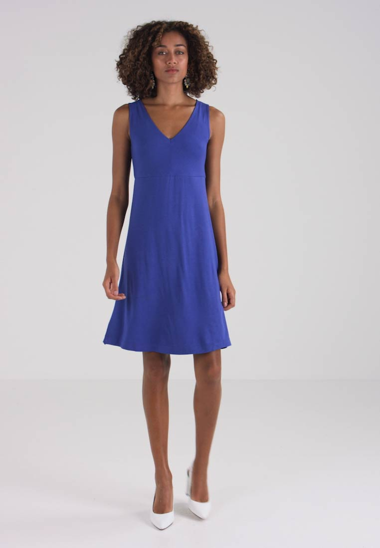 TOM TAILOR EASY DRESS - Jerseyklänning - - - deep ultramarine blå 29f0c3