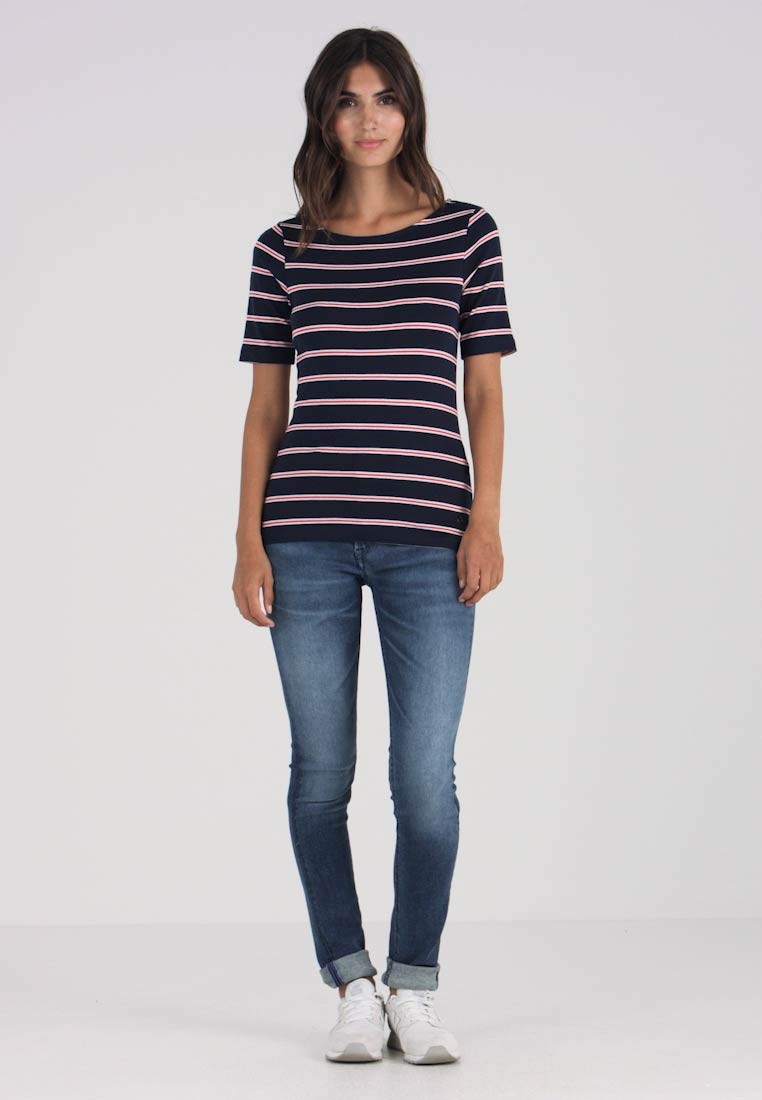 Tailor New Tom Striped Navy white shirt Print T red fqx6xAgdn