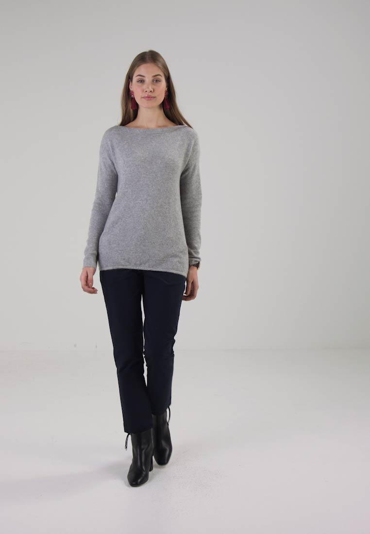 TOM TAILOR ROUND-NECK - Pullover gris clair chin.