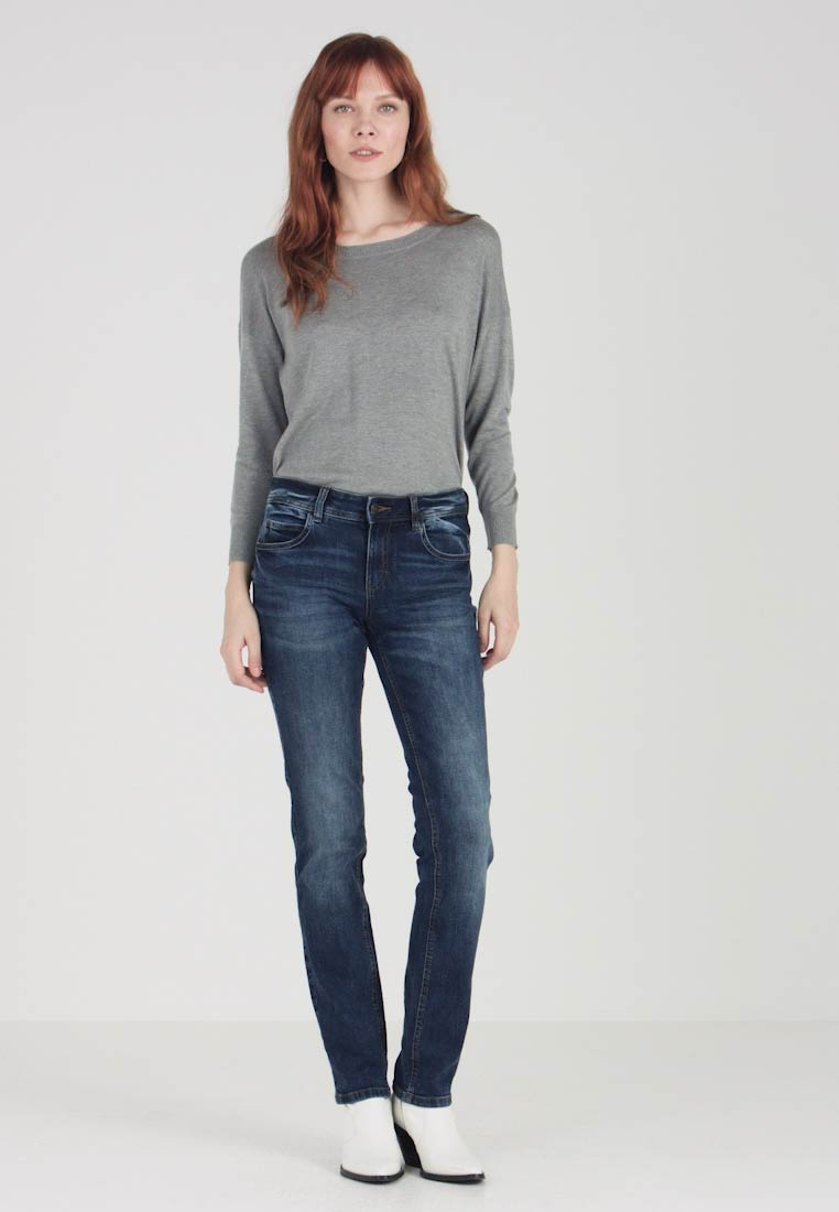 TOM TAILOR - ALEXA - Jeans Straight Leg - mid stone wash denim blue