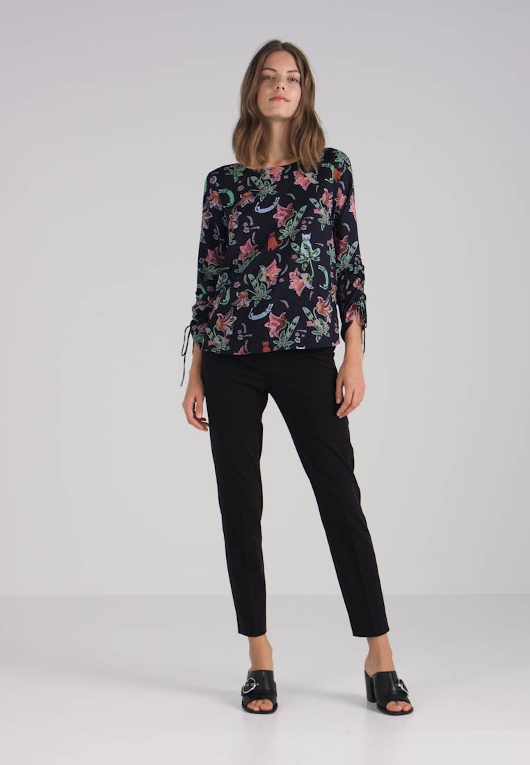 Tailor Navy Drawstrings Printed Tunic Tom With Denim ZcOwqwUA