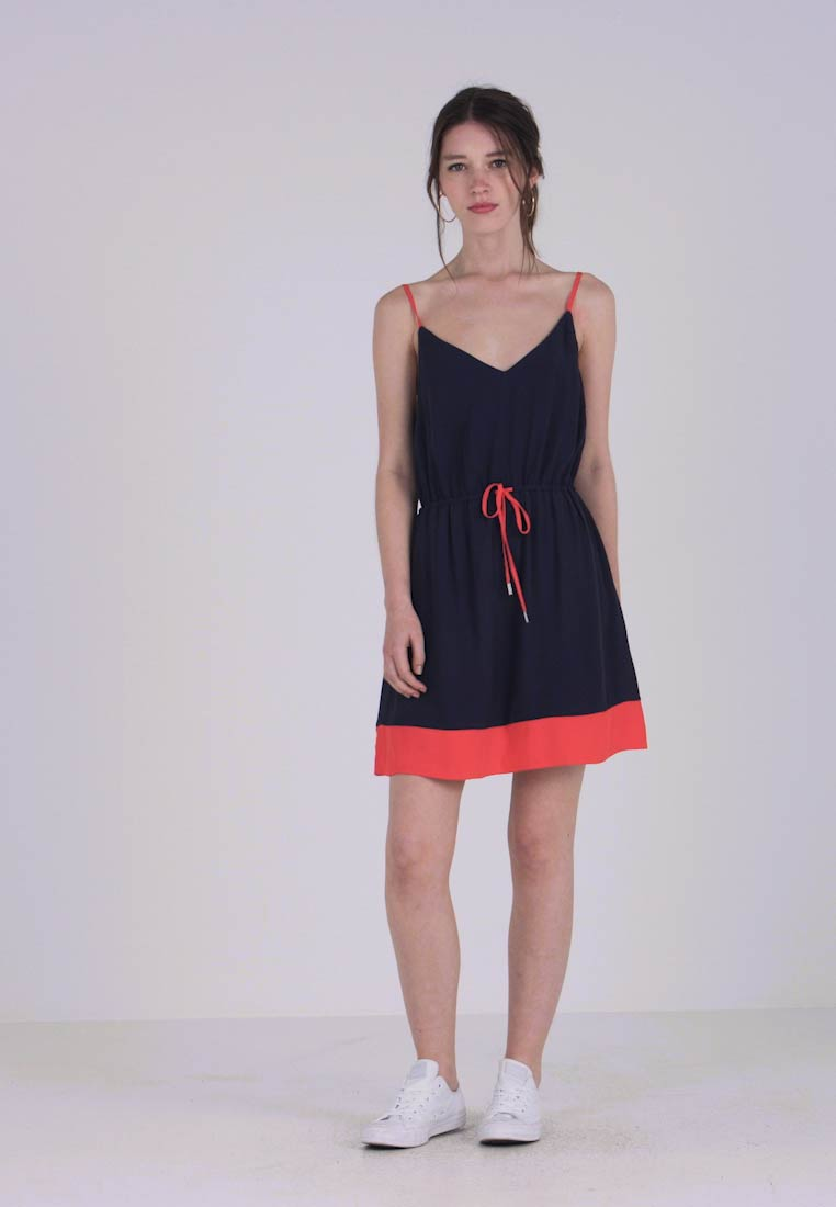 Tommy Jeans - ESSENTIAL STRAP DRESS - Day dress - black iris