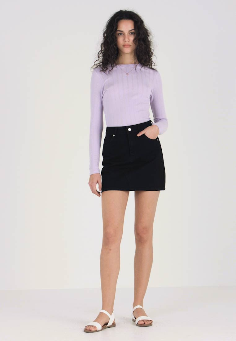 Topshop - HIGH WAISTED SKIRT - A-linjainen hame - black