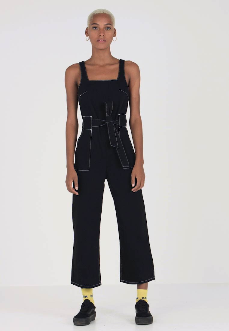 Topshop - SQUARE NECK - Haalari - black