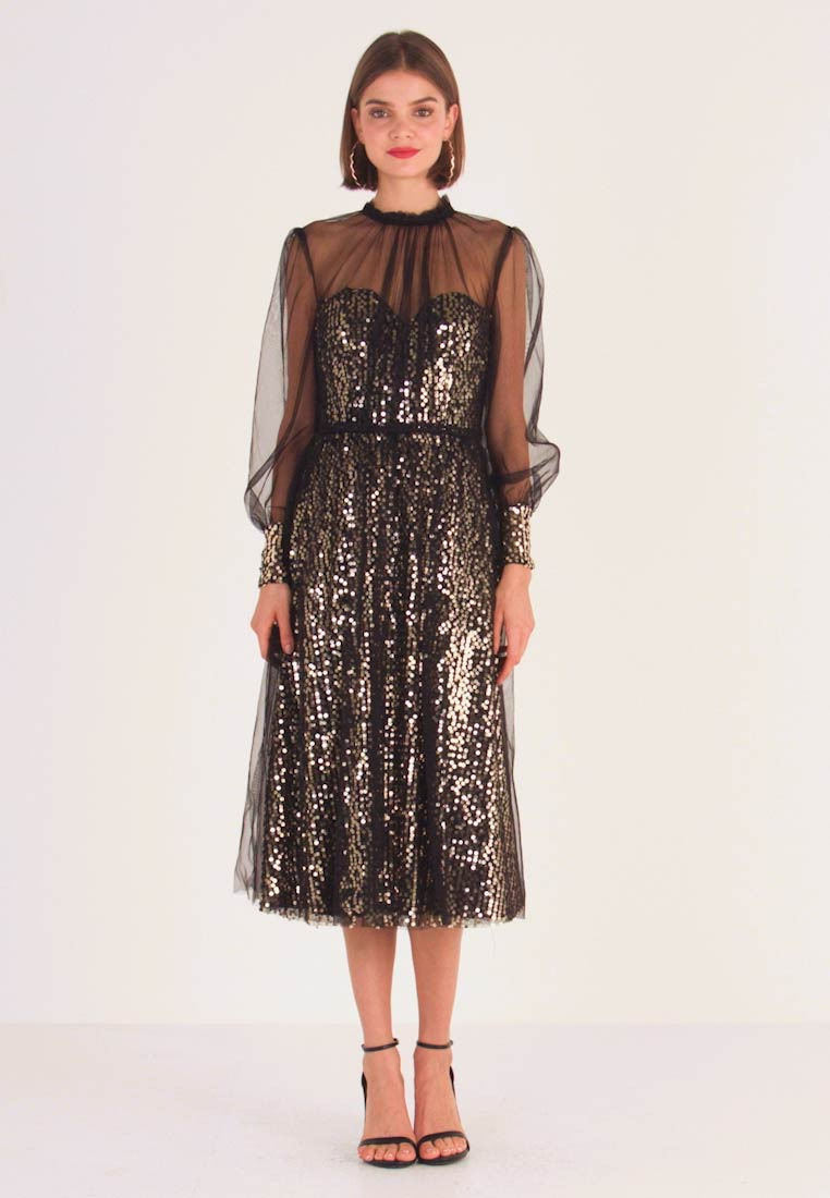 Cocktailkleid/festliches Kleid - black gold