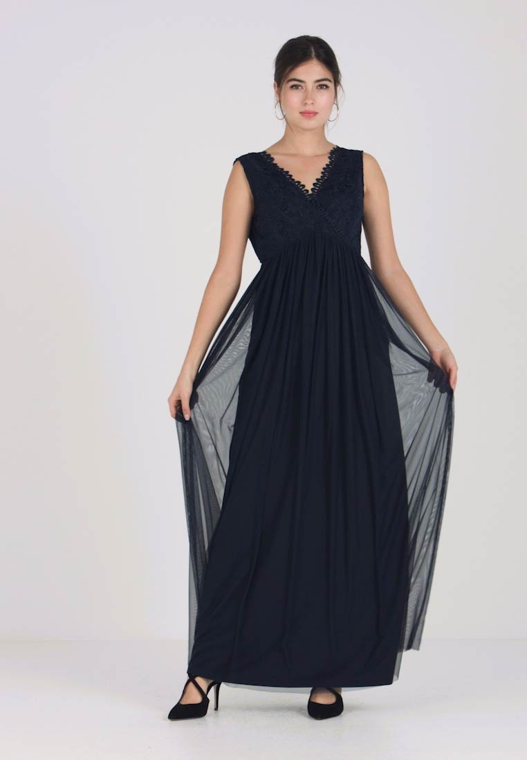 Vila - VIULRICANA MAXI DRESS - Robe de cocktail - total eclipse