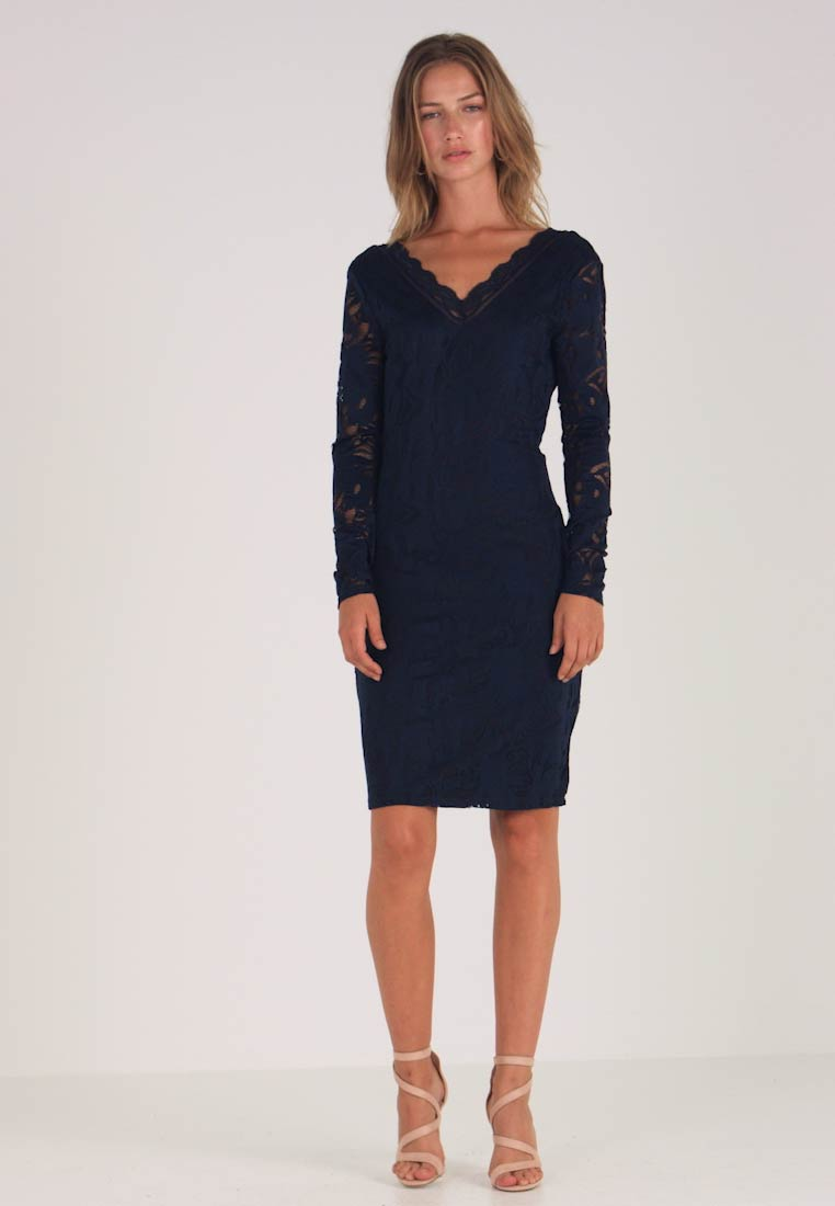 Vila - VISTASIA V NECK DRESS - Vestido de cóctel - navy blazer