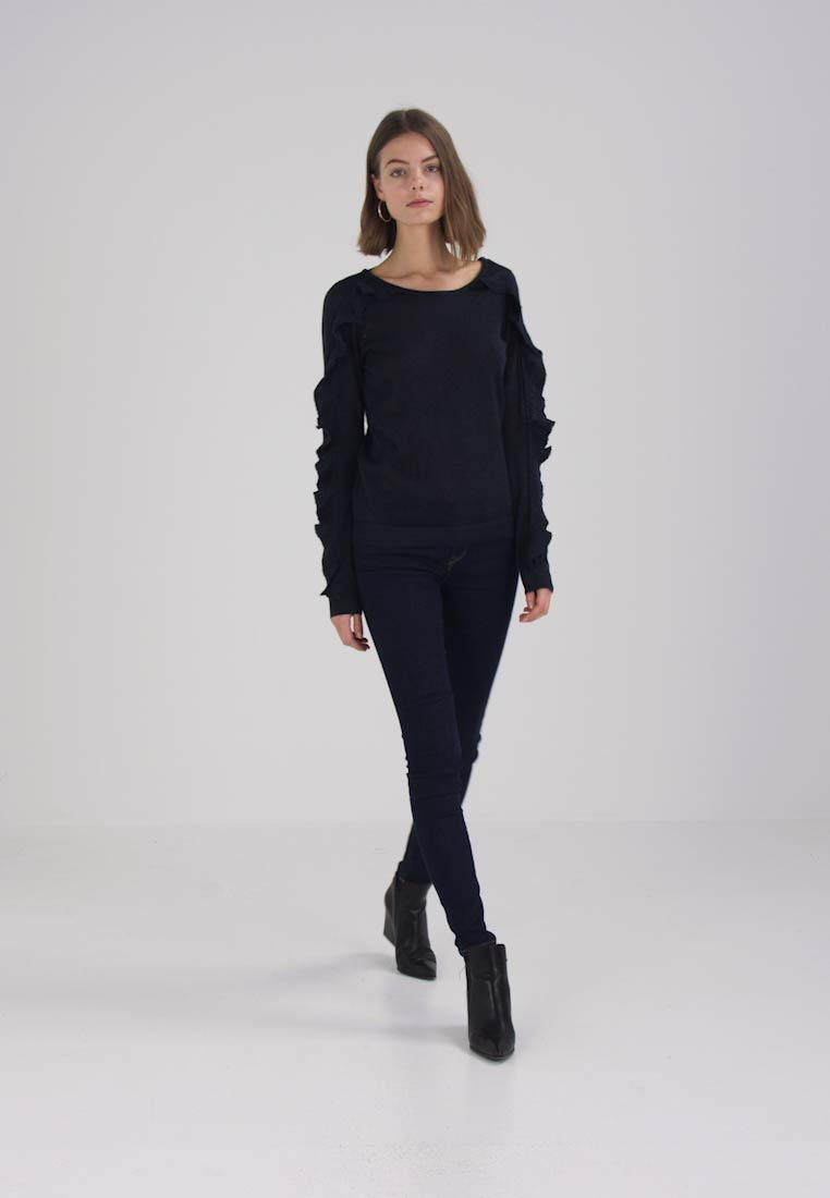 Vila VINELLINA RUFFLE  - Jumper - total eclipse
