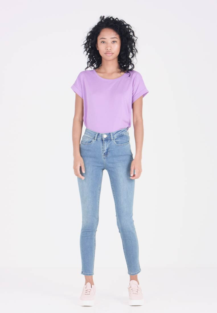 Blue Felicia Vicommit Light Fit Vila Denim Slim Jeans 5YXwHqd