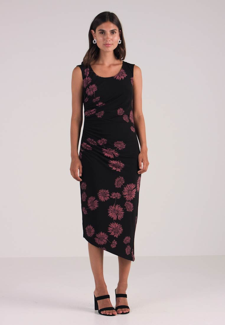 CHATEAU Jerseykjole DRESS RUCHED SIDE Camuto Vince FLORAL 5npAqgwPxY