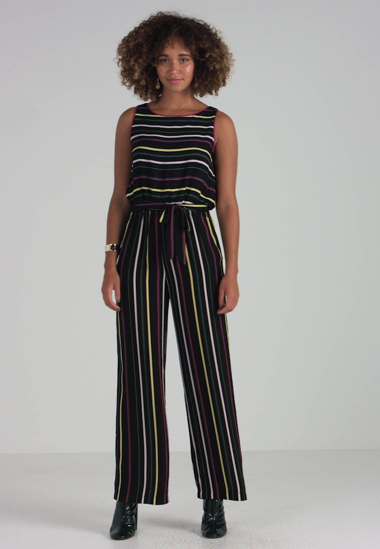 Vince Paradise Belted Jumpsuit Multi Rich Camuto Black Stripe aaw5q1r