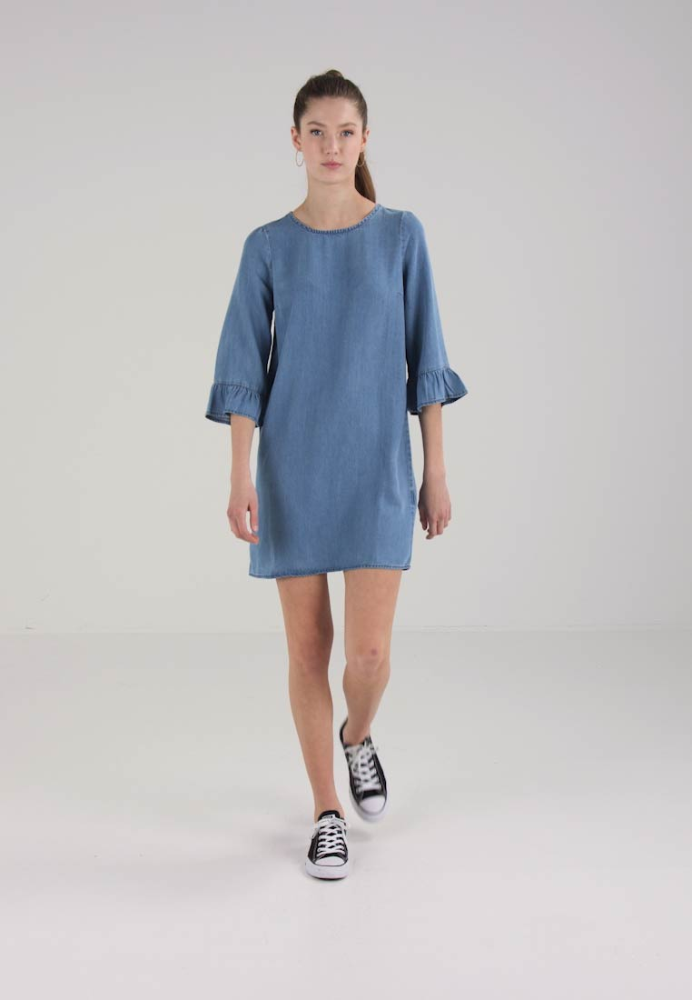 Moda Denim Vero Dress Sleeve Medium Blue FAdqxY7fx