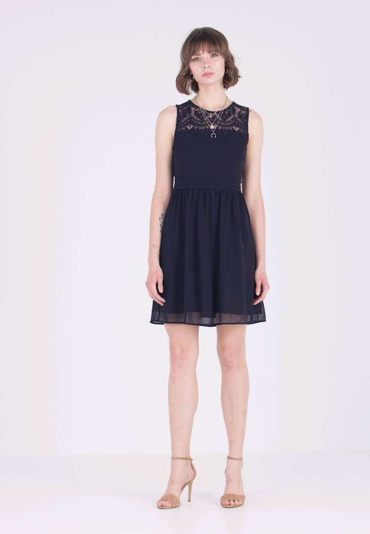 Vero Moda - VMVANESSA SHORT DRESS - Freizeitkleid - night sky